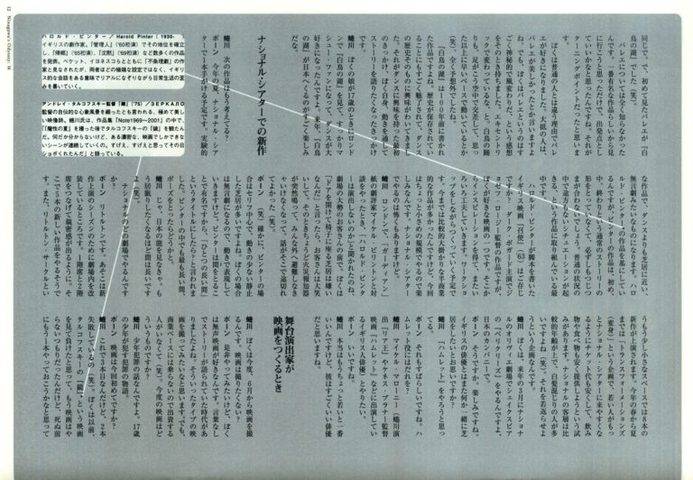 Ninagawa's Odyssey 14 見たこともない物語を語りたい マシュー・ボーン × 蜷川幸雄